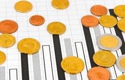 Geld und Diagramm Lizenzfreies Stockbild