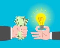 Geld und Idee Lizenzfreies Stockbild