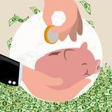 Geld und Investition Stockbild