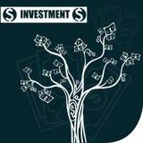 Geld und Investition Stockfoto
