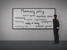 Geld- und Kreditpolitik Stockfoto