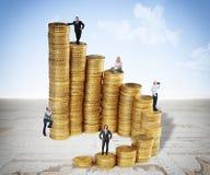 Geld und Leute Lizenzfreie Stockfotografie
