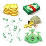 Geld und Münzen Lizenzfreies Stockfoto