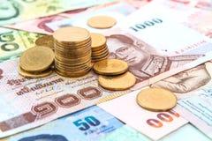 Geld und Münzen Stockfotos
