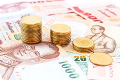 Geld und Münzen Lizenzfreie Stockfotografie