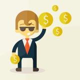 Geld- und Mannvektorillustration Lizenzfreies Stockfoto