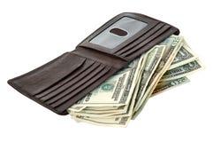 Geld und Mappe Lizenzfreie Stockfotos