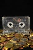 Geld und Musik-Konzept Lizenzfreie Stockbilder