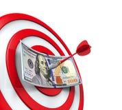 Geld und Pfeile Lizenzfreie Stockfotografie
