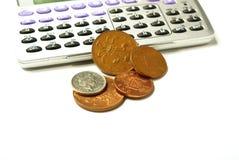 Geld und Rechner stockfotografie