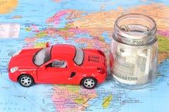 Geld und Reise stockfotografie