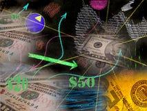 Geld und Richtungen stock abbildung