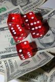 Geld und Spiel Lizenzfreies Stockbild
