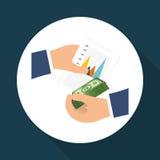 Geld und Statistiken Stockfoto