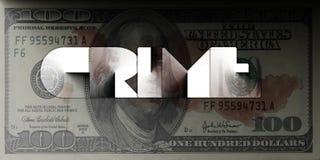 Geld und Verbrechen Stockfotografie