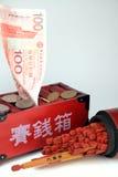 Geld-und Vermögens-Steuerknüppel lizenzfreie stockfotografie