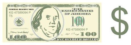 Geld und Zeichen des Dollars stock abbildung