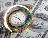 Geld und Zeit Stockbild