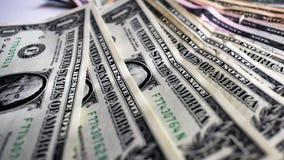 Geld USA-Banknoten, Dollar jeder netten Nahaufnahme stock video footage