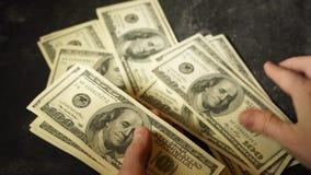 Geld - USD stock footage