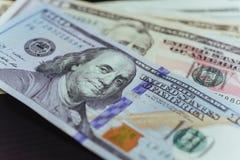 Geld - USD Fanstapel Lizenzfreies Stockbild