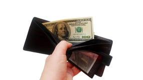 Geld in Uw Portefeuille royalty-vrije stock fotografie