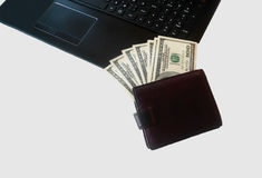 Geld in Uw Portefeuille royalty-vrije stock foto