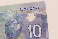 Geld van Canada: Canadese Dollars Omhoog geschoten detail dicht