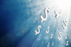 Geld van de hemel vector illustratie