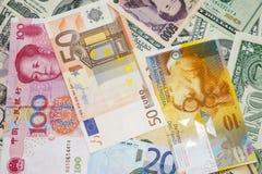 Geld van de wereld stock afbeelding