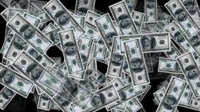 Geld van euro en dollarrekeningen royalty-vrije illustratie