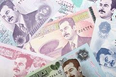 Geld van Irak, een achtergrond Stock Afbeeldingen