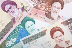 Geld van Iran, een achtergrond Royalty-vrije Stock Foto's