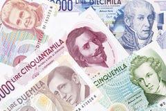 Geld van Italië, een achtergrond Royalty-vrije Stock Foto