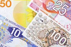 Geld van Nederland, een achtergrond stock fotografie