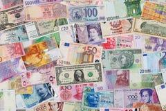 Geld van overal ter wereld royalty-vrije stock afbeelding