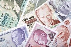 Geld van Turkije, een achtergrond Royalty-vrije Stock Fotografie