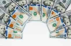 Geld Geld van verschillende landen Het reiskostenconcept uncropped op witte achtergrond stock foto