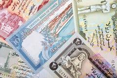 Geld van Yemen, een achtergrond Royalty-vrije Stock Foto's
