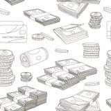 Geld vastgesteld patroon Stock Afbeeldingen
