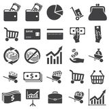 Geld vastgesteld pictogram Royalty-vrije Stock Foto