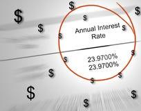 Geld verloren zu den Zinsen Stockfotografie