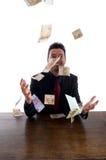 Geld vom Himmel lizenzfreies stockbild