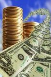 Geld vom Himmel Lizenzfreie Stockfotos