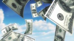 Geld vom Himmel - USD (Schleife) stock video footage