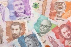 Geld von Kolumbien, ein Hintergrund Lizenzfreies Stockfoto