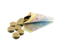 Geld von Ukrain Stockfoto