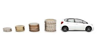 Geld voor auto stock foto