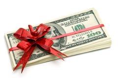 Geld voor gift Stock Fotografie