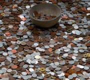 Geld voor god stock afbeeldingen